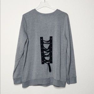 NWT Torrid Active Lace-Up Back Sweater